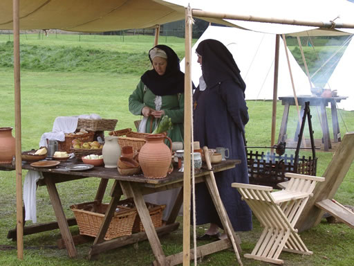 Medieval re enactment stitches of time for Civil kitchen designs