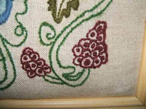 Crewelwork-close up