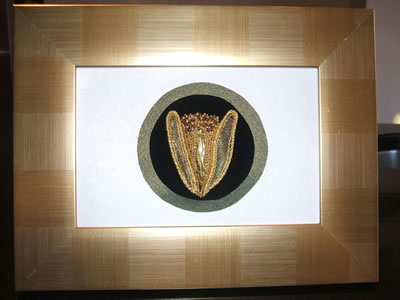 Goldwork flower