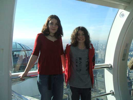 Kids on London Eye