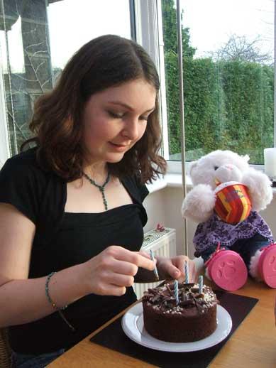 Ellen and cake