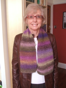 Mum and her new scarf
