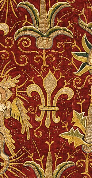 Goldwork on a chausable