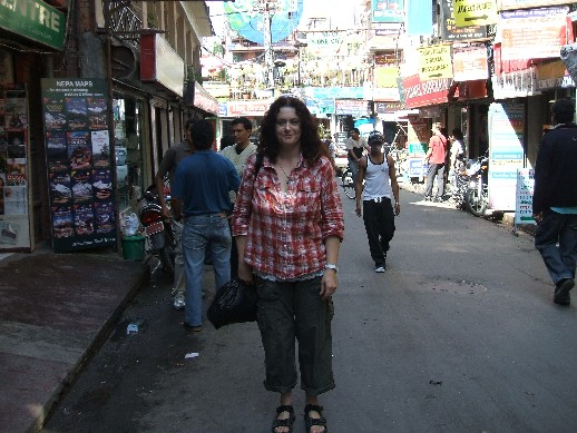 Me in Thamel doing some embroidery shopping !