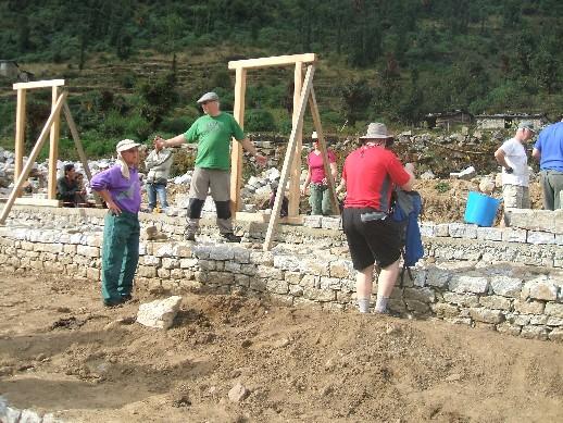 The villagers had already built the foundations and verandah