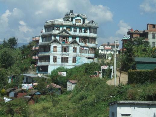 Houses on the outskirts of Kathmandu