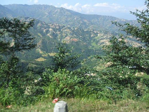 The hills outside Kathmandu