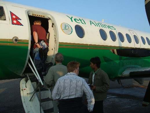 The Yeti airlines plane that we flew on