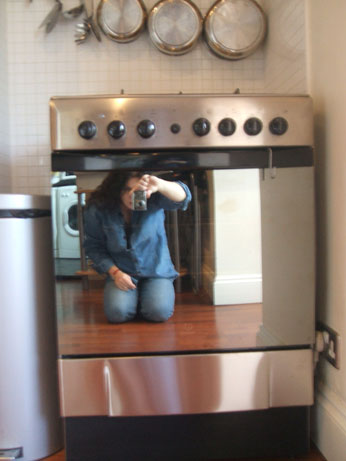 Me photographing new cooker