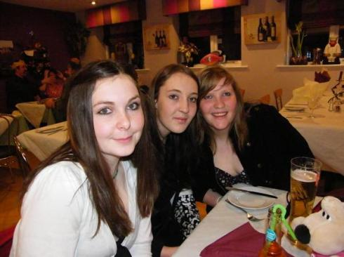 Ellen, Charlotte and Maxine - Happy 18th Charlotte!