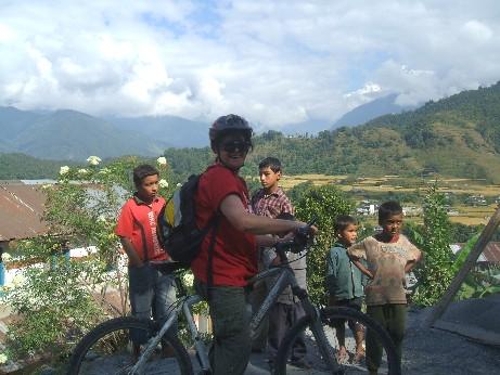 Me half way up the Annapurna range on my bike!