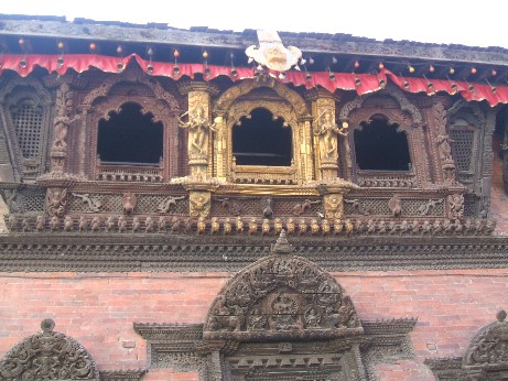 The temple of the Living Goddess Kumari