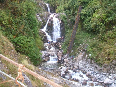 The waterfall - the guys went swimming while I watched!