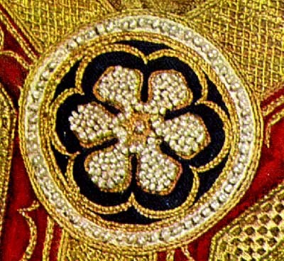 Detail of the above beadwork