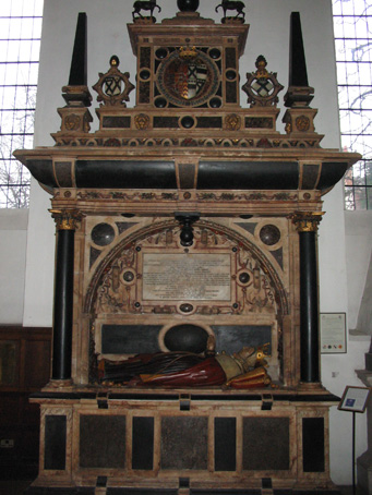 The tomb in Derby Cathedral