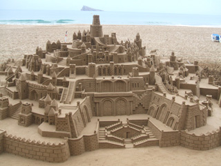 Amazing sandcastle