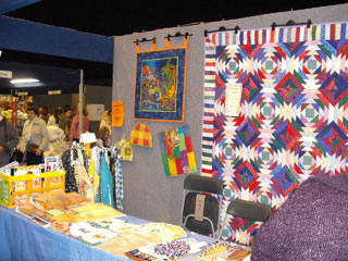 A beautiful quilt display