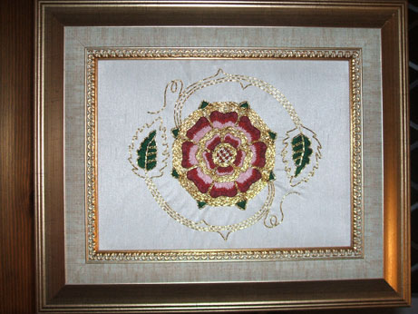 Tudor Rose goldwork