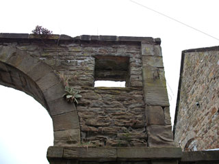 The arch near the stables