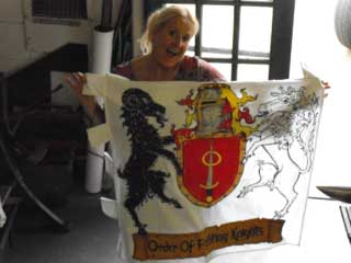 Bev with the new group banner