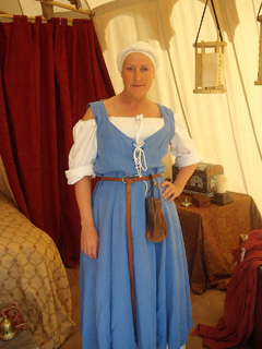 Bev in peasant dress