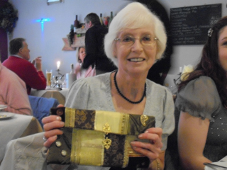 Mum with the completed bag