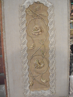 A goldwork panel