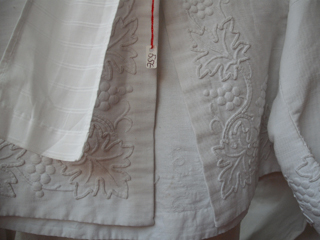 Whitework on a baby's dress
