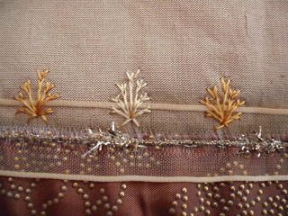 Detail of the stitching embellishment