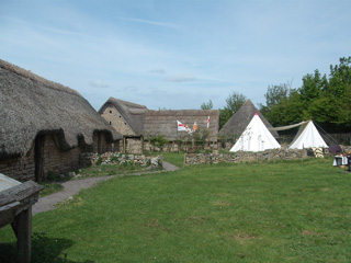 Part of the village with the archers' encampment