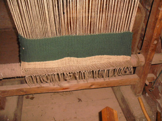 Close up of the weaving