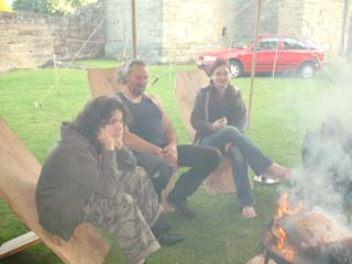 Round the fire with our lovely friend Keith