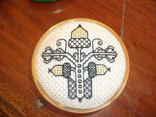 Bev;s blackwork pin box