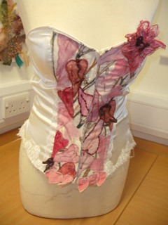 Corsets were very popular - this is a really pretty one