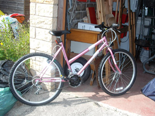 My new pink bike!