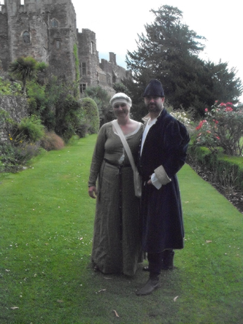 My friends Carl (Geoffrey of Woodstock) and Denise (Matilda de Monfichet) in the castle gardens