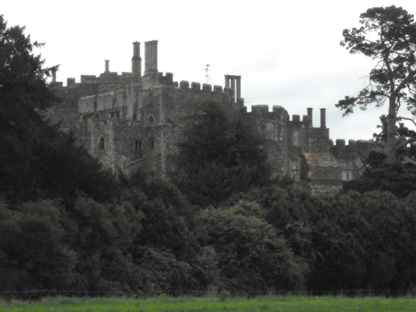 Berkeley castle on an overcast July day