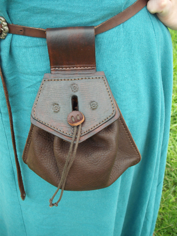 Ellen's leather bag