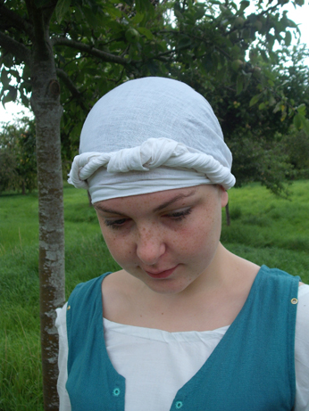 Ellen with her earlier period headcovering