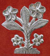 Lovers' badge with a forget me not