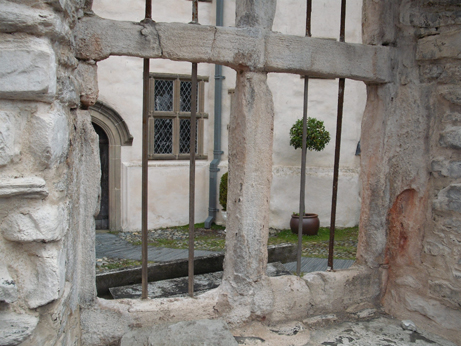 Part of the courtyard