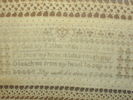 Detail of the sampler