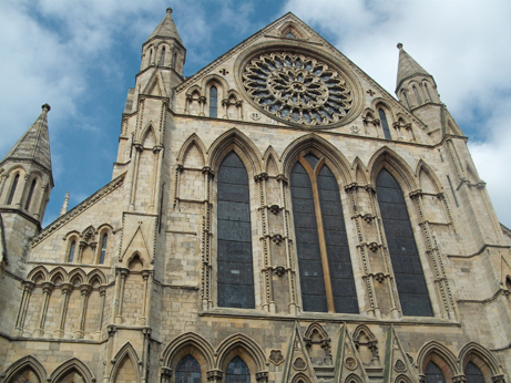 The Minster and the famous Rose window
