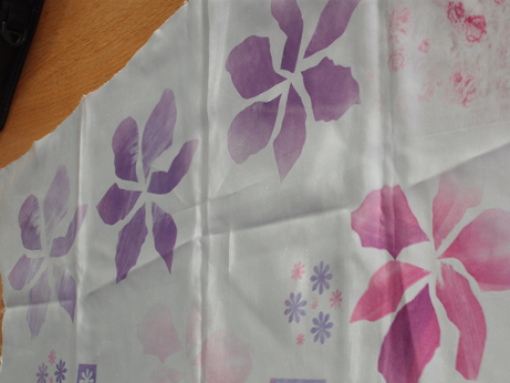 Printed flowers and some other experiments with bags and paper cutters