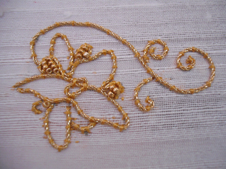 Goldwork flower 2