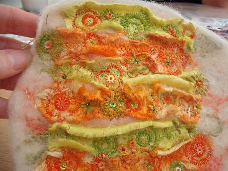 Barbara - flower stitching