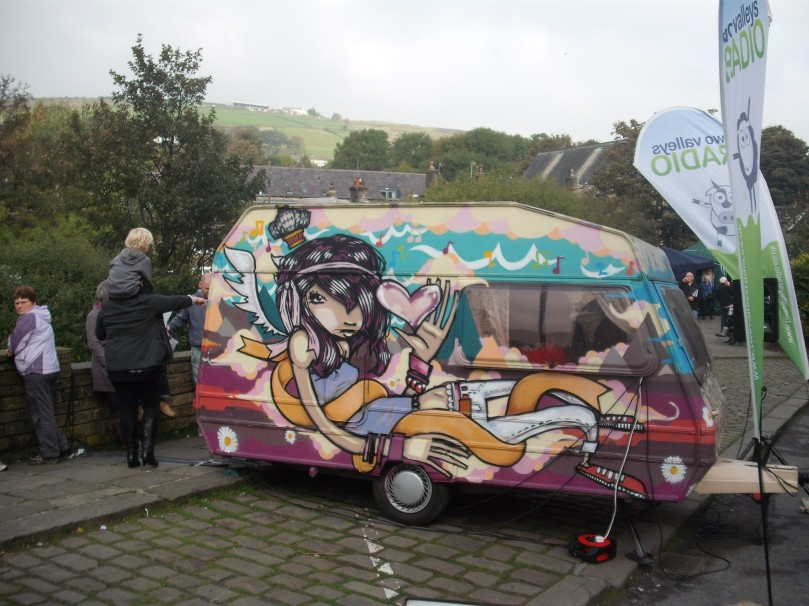 The 'Caravan of Love' that Two Valleys Radio use for outside broadcasts