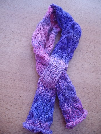Finished lace rib scarf