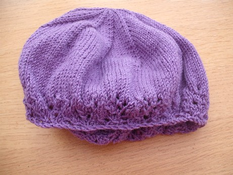 Lilac hat 3