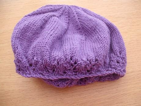 Lilac hat 3